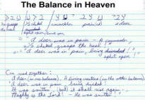 Balance in Heaven aspect of bible code.