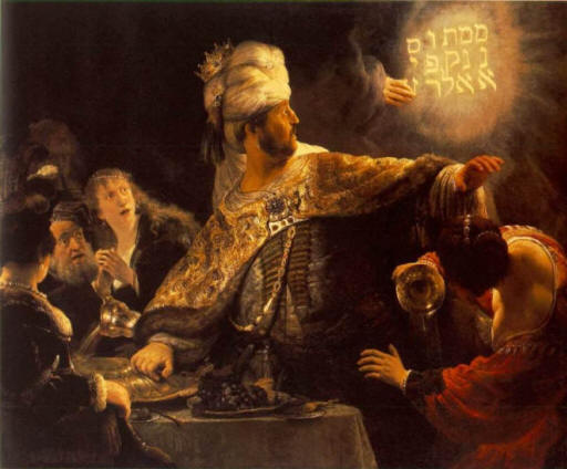Belshazzar and the fall of Babylon, a sign of 2012?