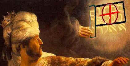 Belshazzar by Rembrandt as a Bible Code and Prophecy.