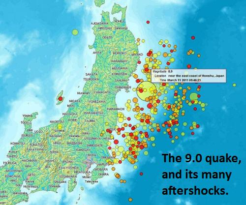 Japan Quake and aftershocks.