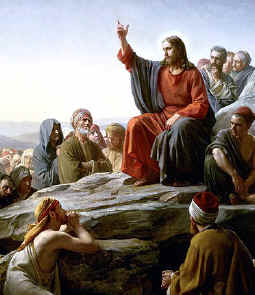 """Jesus teaches with his """"sermon on the mount"""". He taught, """"Blessed are they that mourn for they shall be comforted."""" (Compare this with the names bible code.)"""