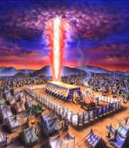 When Israel left Egypt they were led by a pillar of cloud and fire. The fence around the tabernacle later became the high walls around the temple and Jerusalem, and ultimately set the stage of the imagery for the future great walls that surround the New Jerusalem, spoken of in the book of Revelation.