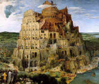 The Tower of Babel, a symbol of defiance against the Creator.